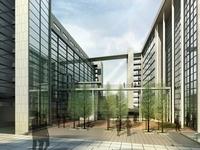 Modern Building Plaza 537 3D Model