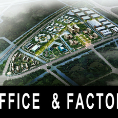 Office & Industrial Complex 540 3D Model