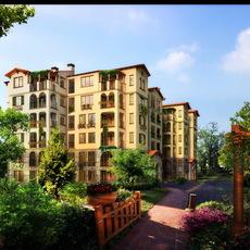 Residential Multi-Story Building 670 3D Model