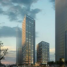 Downtown Skyscrapers 693 3D Model