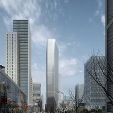 Downtown Cityscape 701 3D Model