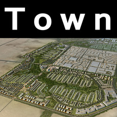 Aerial View Cityscape 709 3D Model