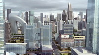 Downtown Cityscape 722 3D Model