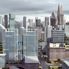 Downtown Cityscape 722 3D Model