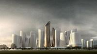 Futuristic Cityscape 737 3D Model