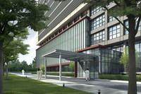 Hospital Building 743 3D Model