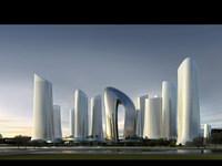 Waterfront Futuristic Cityscape 750 3D Model