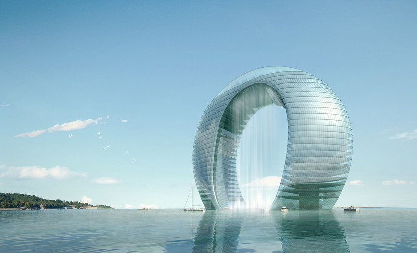 Futuristic Building Day and Night 759 3D Model