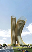 Futuristic Building 780 3D Model