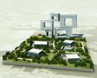 contemporary building complex 782 3D Model
