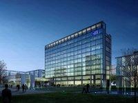 Office Buildings at Night 791 3D Model