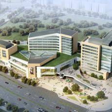 Aerial View Building Complex 819 3D Model
