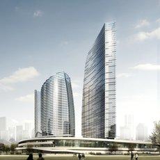 Skyscraper Towers 821 3D Model