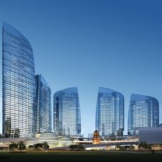 Glass Tower Buildings 822 3D Model