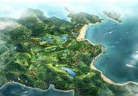 Aerial View Oceanfront Cityscape 853 3D Model