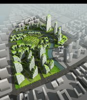 Aerial View Cityscape 865 3D Model