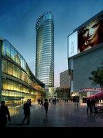 Shopping Center at Night 866 3D Model