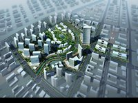 Aerial View Cityscape 896 3D Model