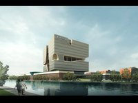 Waterfront Cityscape 926 3D Model
