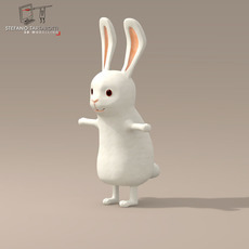 Rabbit cartoon character 3D Model