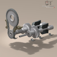 driveshaft gear and sprocket assembly 3D Model