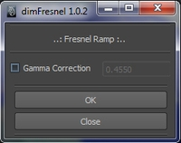 Free dimFresnel for Maya 1.0.2 (maya script)