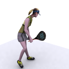 Girl_Tennis_player for 3dsmax 1.1.1