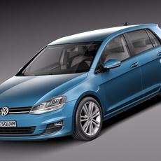 Volkswagen Golf VII 2013 5-door 3D Model