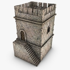 Old stone tower 3D Model