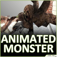 Animated Giant Tentacular Monster with 6 animations 3D Model