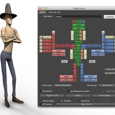 """Rapid Rig: Poser"" for Maya for Maya 2.0.8 (maya script)"