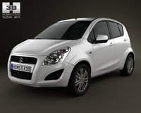 Suzuki Splash (Ritz) 2012 3D Model