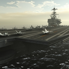 Aircraft Carrier 3D Model