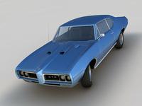 Pontiac GTO 1968 3D Model