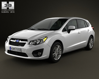 Subaru Impreza hatchback 2012 3D Model