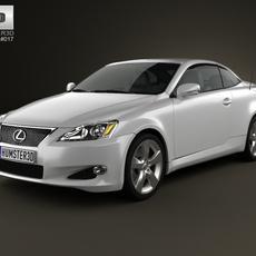 Lexus IS C (XE20) 2012 3D Model