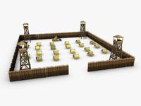 Military fort 3D Model