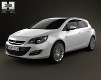 Opel Astra J hatchback 5-door 2012 3D Model