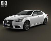 Lexus LS F sport (XF40) 2012 3D Model