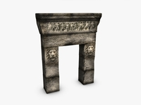Greek roman doorway 3D Model