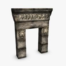 Greek roman doorway 3D Model