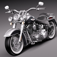 Harley Davidson Softail Deluxe 2012 3D Model