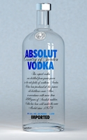 Absolut Vodka Bottle 1 Liter 3D Model