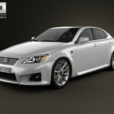 Lexus IS F (XE20) 2012 3D Model
