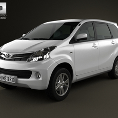 Toyota Avanza 2012 3D Model