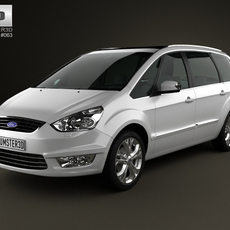 Ford Galaxy (Mk3) 2012 3D Model