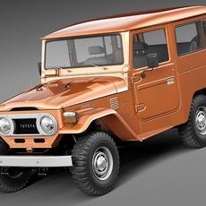Toyota Land Cruiser FJ40 1960-1984 3D Model