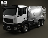 MAN TGS Mixer Truck 3-axis 2012 3D Model