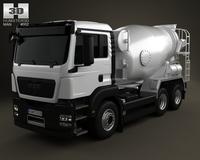 MAN TGS Mixer Truck 3-axis 2012 3D Model