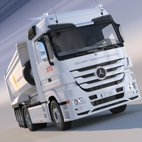 Mercedes Actros Dump Truck 3D Model